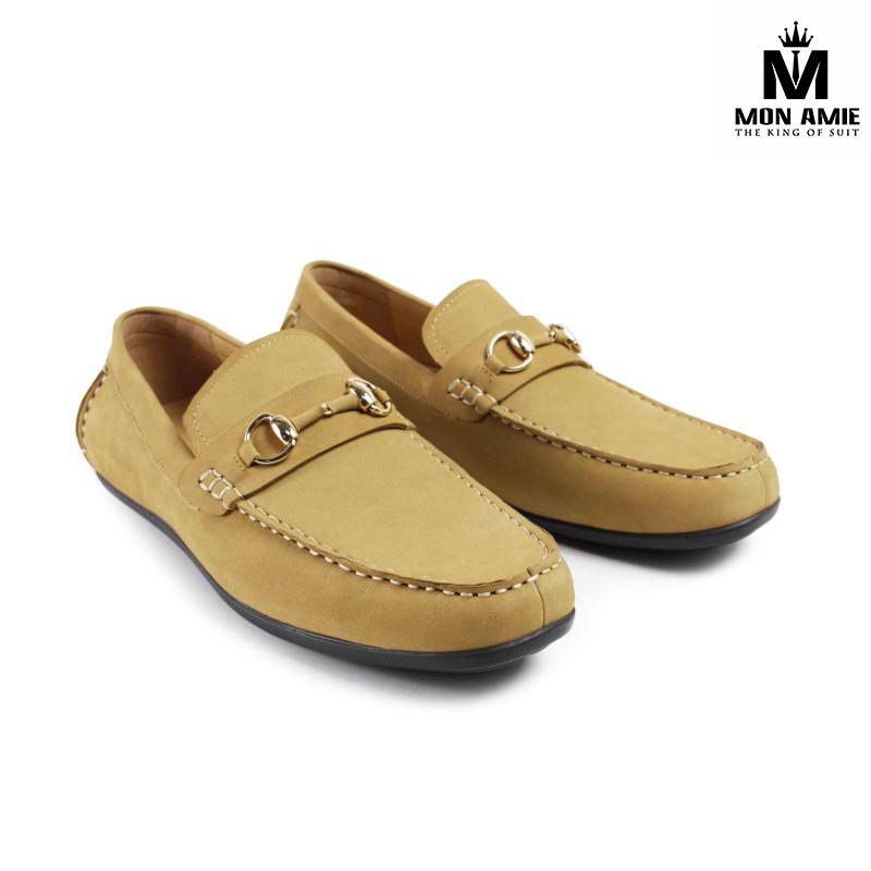 Giày Tây Nam Cao Cấp Italia Màu Vàng Nâu DD002 Brown Mon Amie