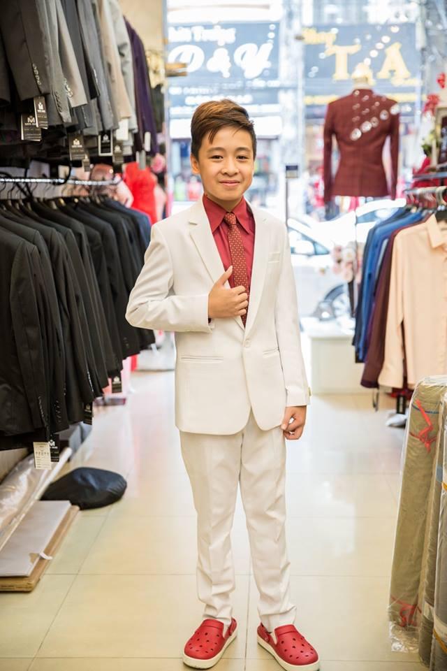 Bộ Suit Trẻ Em Màu Trắng Lịch Lãm TE017