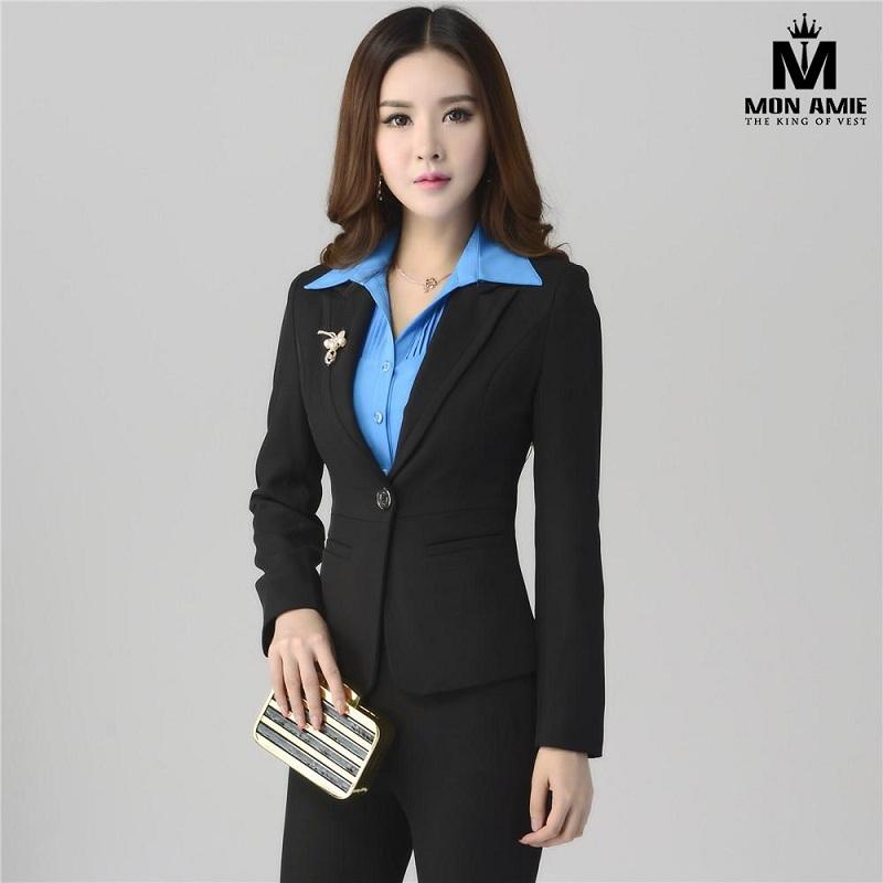 Đồng Phục  Vest Nữ  Đen Hàn Quốc