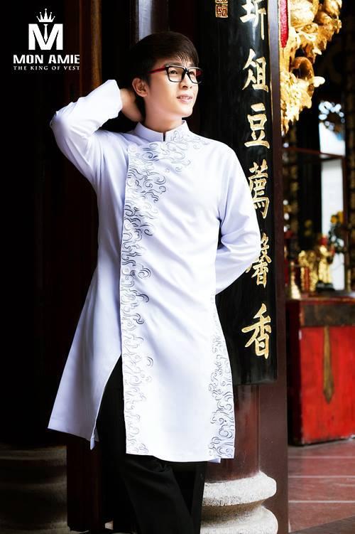 may áo dài nam đẹp tại Mon Amie TPHCM