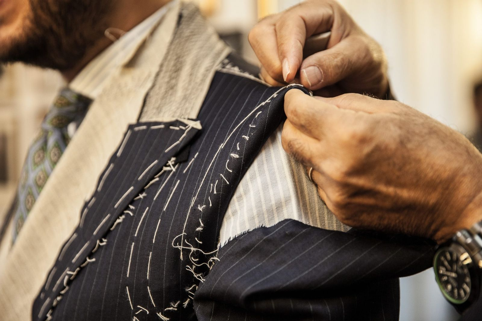 A Bespoke Suit 's required hours of handwork to be completed.