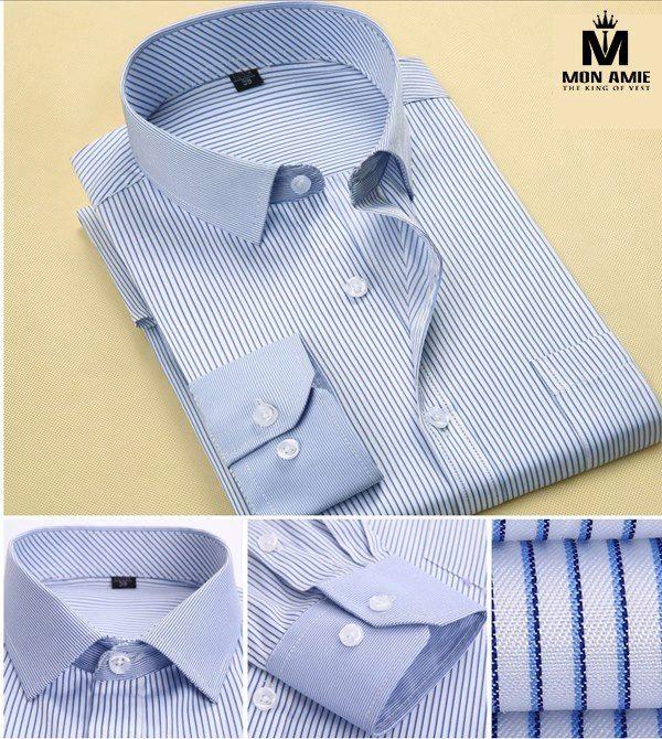 Hoặc bạn có thể bắt đầu tạo nét cá tính riêng biệt bằng những chiếc áo sơ mi xanh sọc như thế này chẳng hạn.