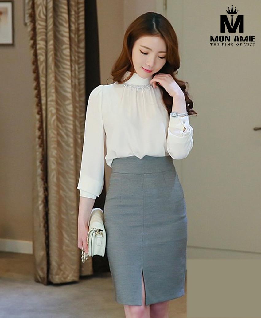 Những mẫu váy công sở eo cao thế này, hẳn bạn chỉ có thể tìm thấy tại Mon Amie mà thôi.