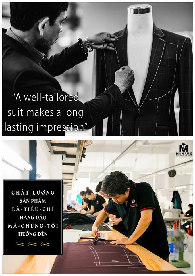 Một bộ suit nam đẹp - luôn cần trải qua nhiều quy trình may đo thủ công kỹ lưỡng.