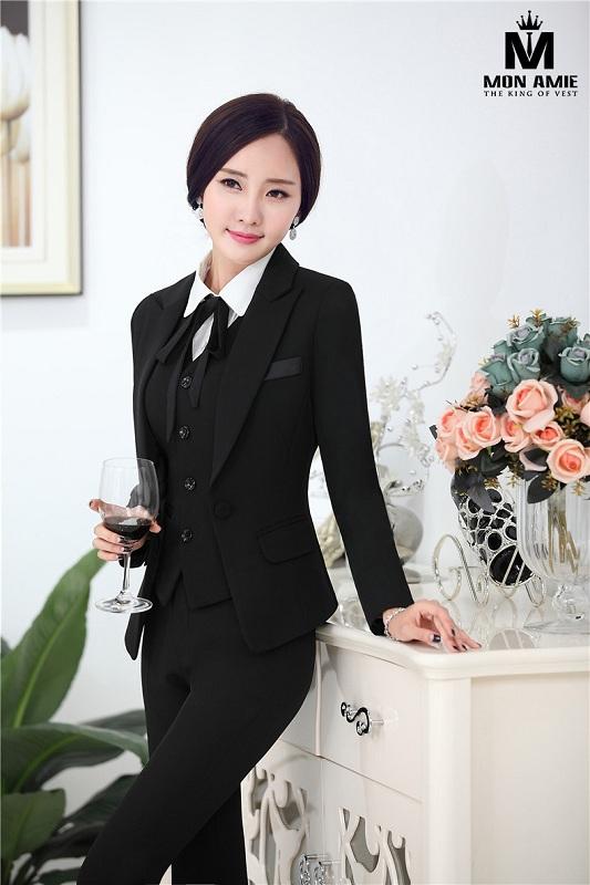 Form Vest nữ Hàn Quốc may ôm-bó, dần trở nên thịnh hành hơn cả.