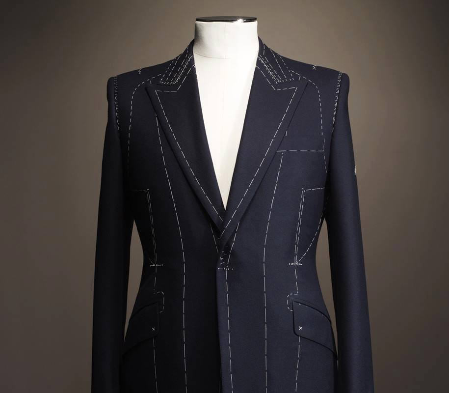 The basic form of a Bespoke suit.
