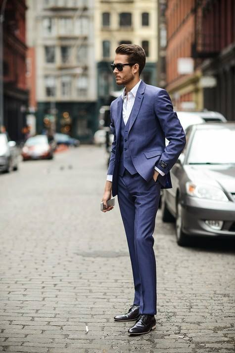 Suit Xanh Navy Phong Cách Italia