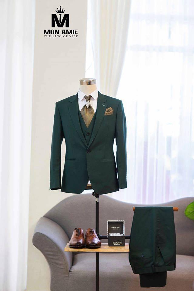 Suit Nam Xanh Lá