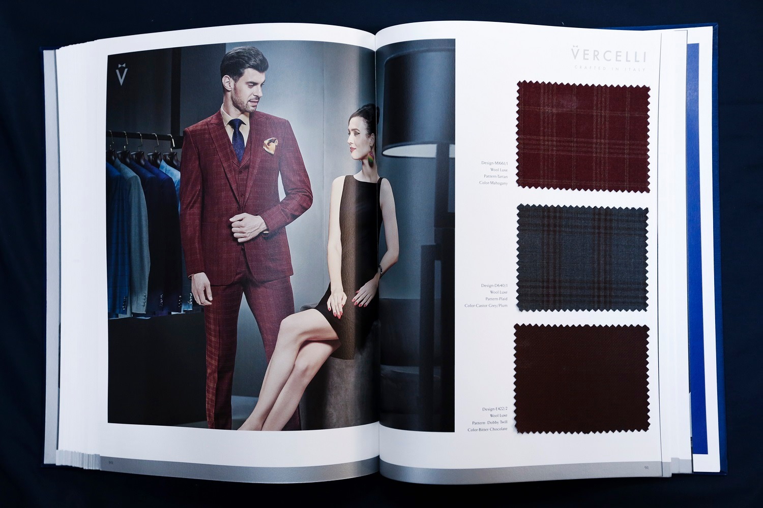 Vercelli Catalogue Suit Fabrics - Mon Amie Veston