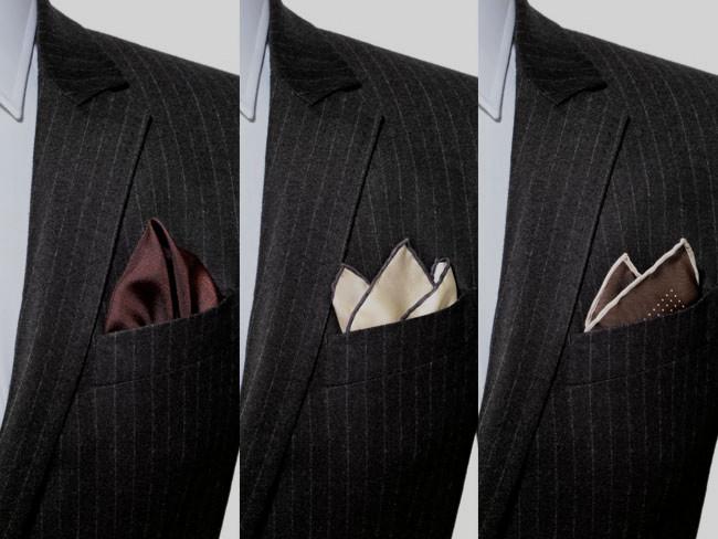 3 cách gấp khăn pocket square đẹp thường thấy