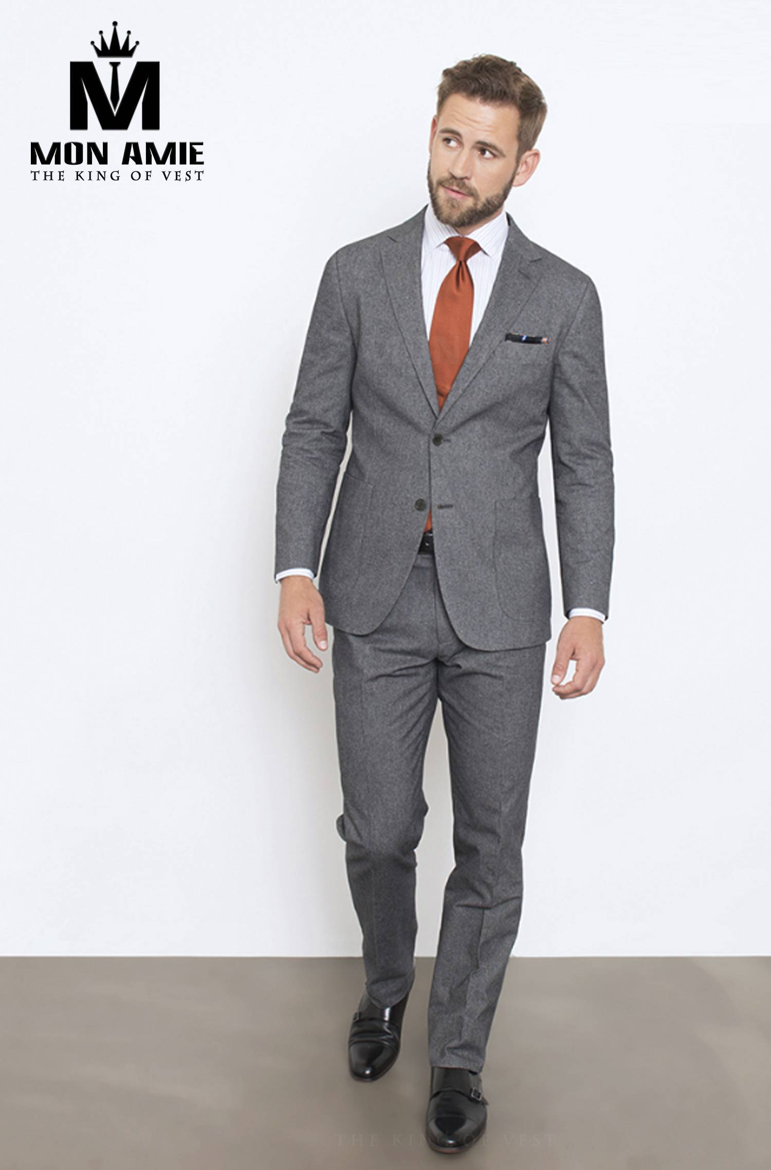 Suit Châu Âu Xám Tro CA05