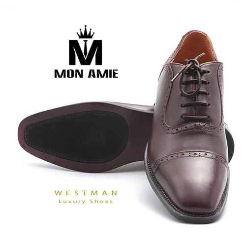 Giày Tây Hàn Quốc WM008 - Brown