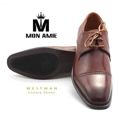 Giày Tây Hàn Quốc WM007 - Brown