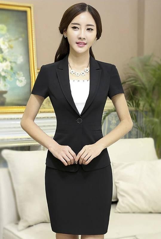 comple Vest - Váy Nữ Công Sở Đen Tay Ngắn