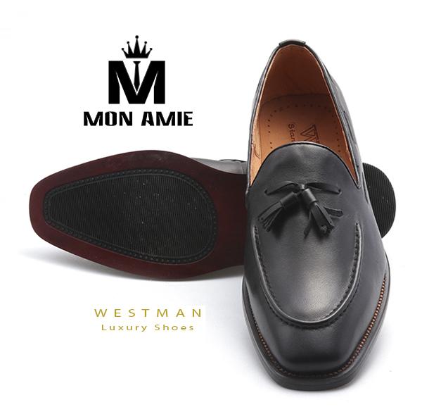 Giày Tây Hàn Quốc WM002 - Black
