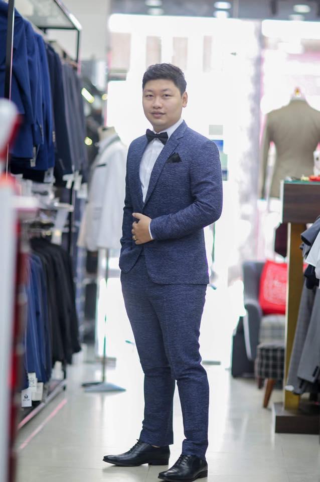 Bộ Suit Cho Chú Rể Vải Wool F674