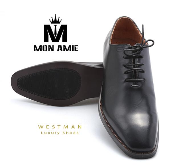 Giày Tây Hàn Quốc WM001 - Black