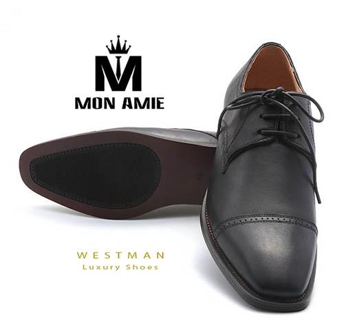 Giày Tây Hàn Quốc WM003 - Black