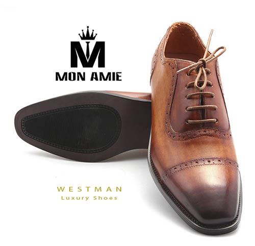 Giày Tây Hàn Quốc WM004 - Brown