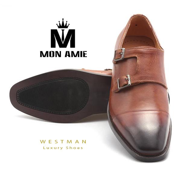 Giày Tây Hàn Quốc WM005 - Brown