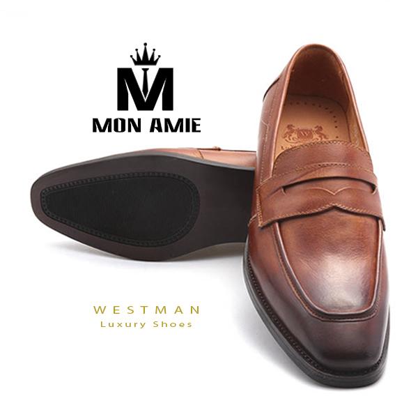 Giày Tây Hàn Quốc WM006 - Brown