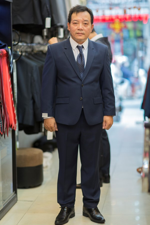Suit Sui Gia Xanh Navy M16