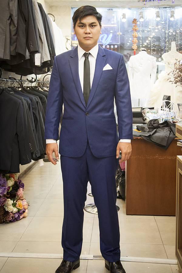 Bộ Suit nam Italia Màu Xanh KH010