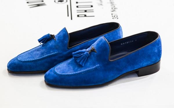 Giày Tây Nam Cao Cấp Italia Màu Xanh Biển Đậm BN16010