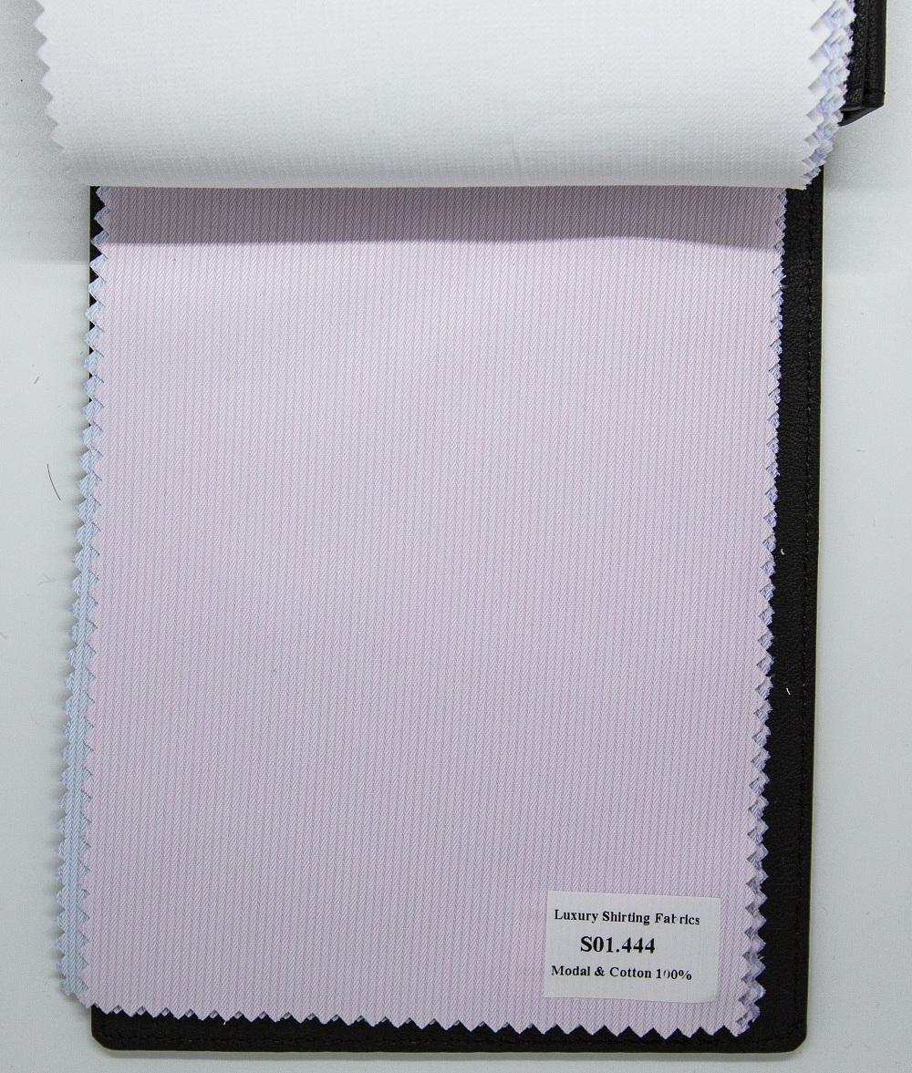 Mẫu vải may áo sơ mi hồng sọc dọc đẹp S01.444