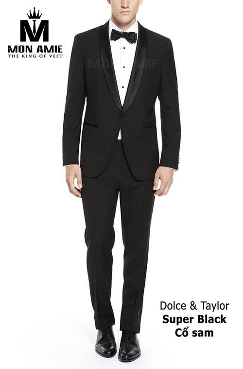 Bộ Tuxedo Đen D&T Super Black - Cổ Sam