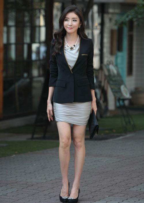 Vest Nữ Công Sở Đen Viền Màu Vàng Đồng