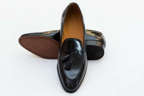Giày Tây Nam Cao Cấp Italia Màu Đen Alexandre Mon Amie