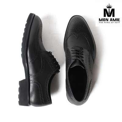 Giày Tây Nam Cao Cấp Màu Đen Derby DB31 Mon Amie