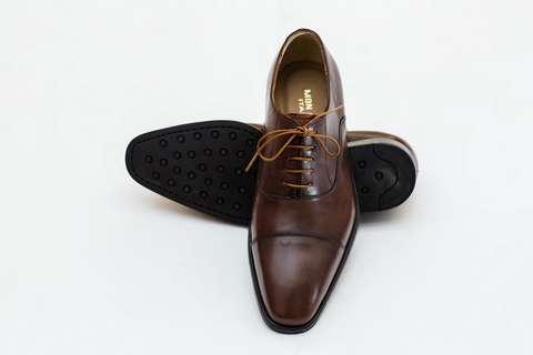 Giày Tây Nam Cao Cấp Italia Màu Nâu Mon Amie S1