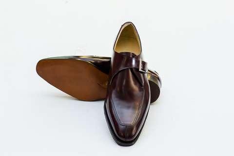 Giày Tây Nam Cao Cấp Màu Nâu Đỏ FHNS 175 Mon Amie