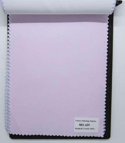 Mẫu vải may áo sơ mi hồng sọc xéo đẹp S01.439