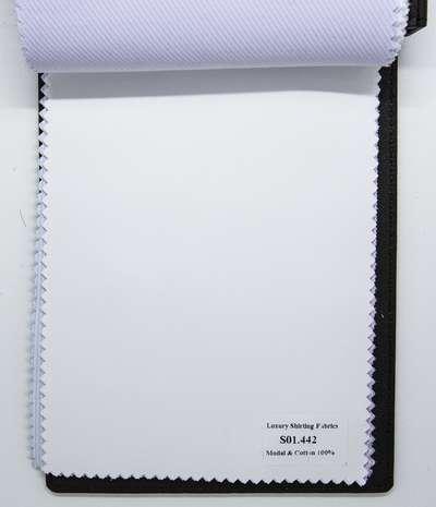 Mẫu vải may áo sơ mi trắng vân chìm đẹp S01.442