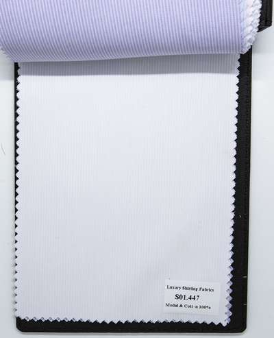 Mẫu vải may áo sơ mi trắng sọc dọc đẹp S01.447