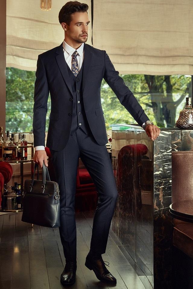 Bộ Suit Doanh Nhân Xanh Đen
