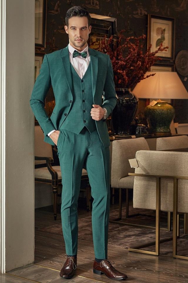 Bộ Suit Italia Màu Xanh Lá