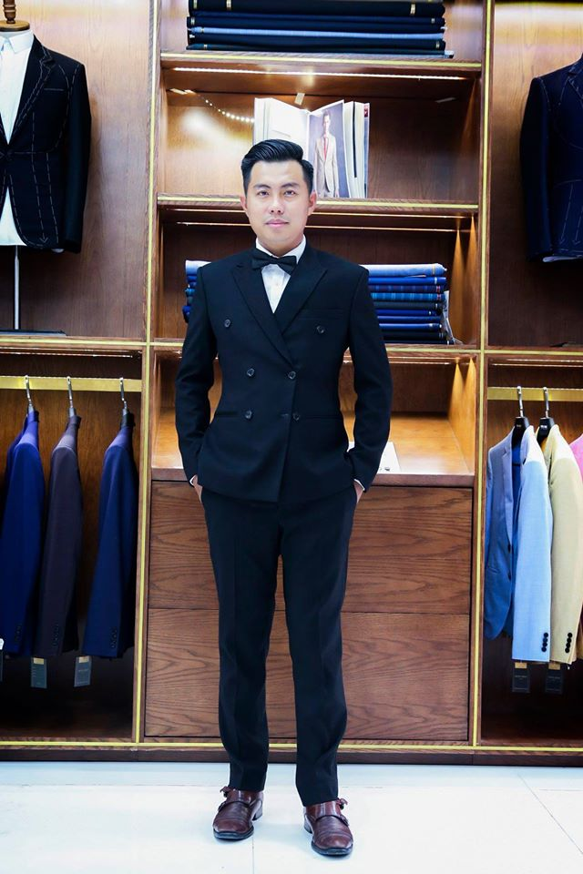 Suit Xanh Đen 2 Hàng Khuy