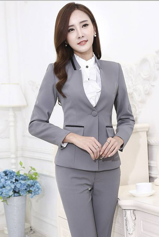 Comple Vest Nữ Công Sở Xám Tay Lửng