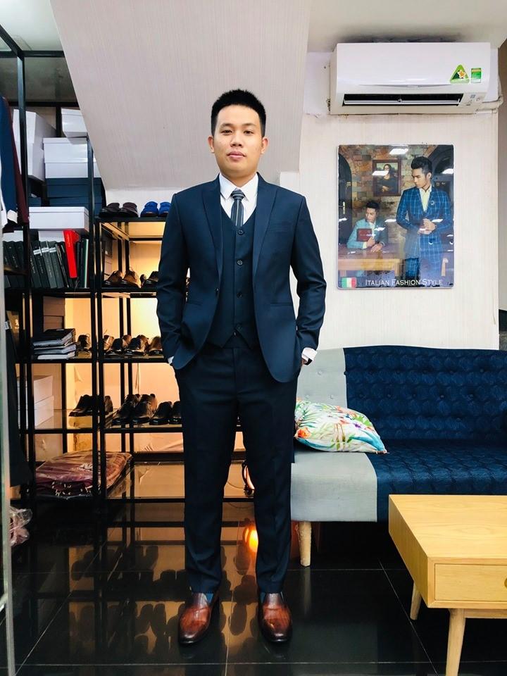 Bộ Suit Xanh Công Sở 60% Wool