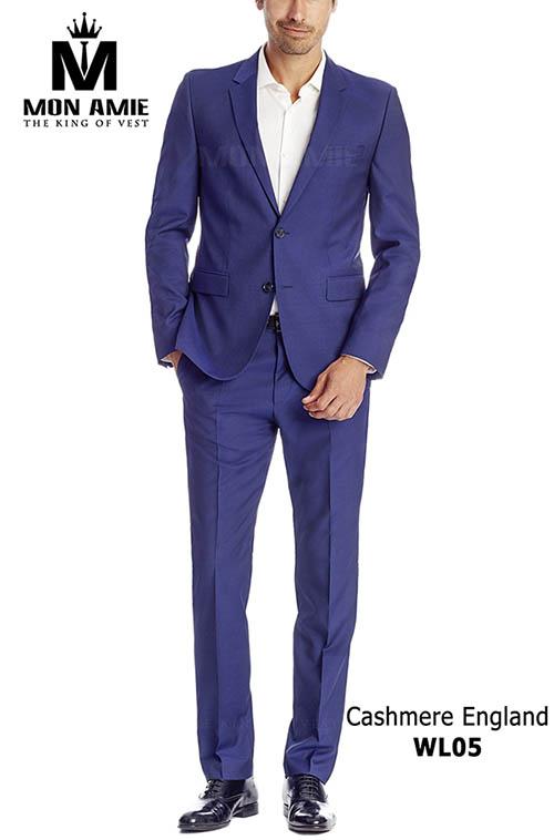 Bộ Vest nam ánh xanh Cashmere England WL05