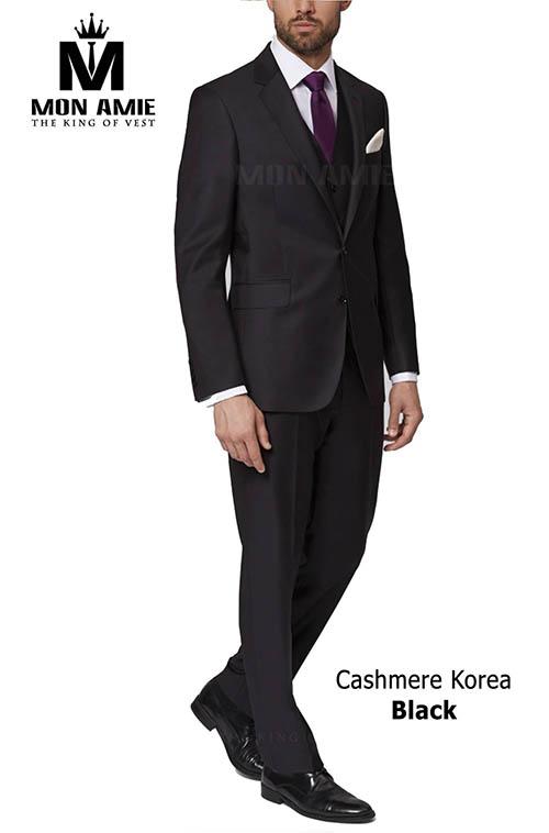 Bộ Vest Đen Cashmere Korea