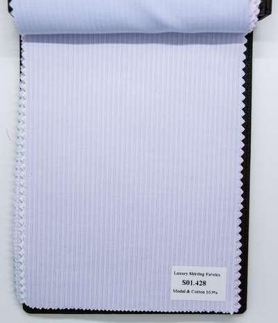 Mẫu vải may áo sơ mi sọc xanh biển đậm đẹp S01.428