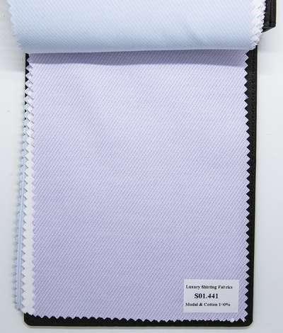Mẫu vải may áo sơ mi tím sọc xéo đẹp S01.441
