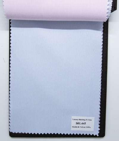 Mẫu vải may áo sơ mi xanh biển nhạt sọc dọc đẹp S01.445