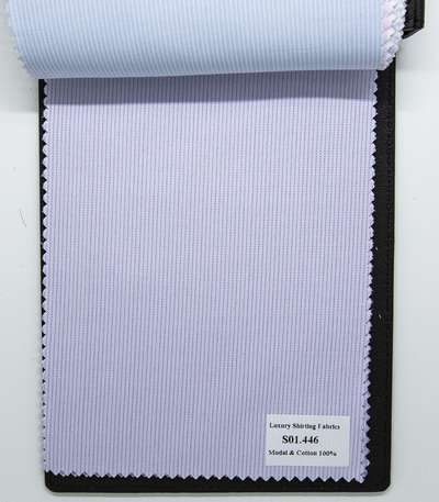 Mẫu vải may áo sơ mi tím sọc dọc đẹp S01.446